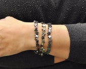 Hematite Bracelet, Star Bracelet, Gemstone Bracelet, Hematite Jewelry, Stretch Bracelet, Minimalist Bracelet, Beaded Bracelet