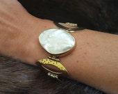 Fresh Water Pearl Boho Bracelet, Bohemian Women Bracelet Jewelry Gift