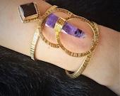 Amethyst Point Bracelet With LapisLazuli