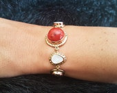Red Coral Bracelet, Coral Bracelet, Coral Bracelet, Red Bracelet, Red Coral Bracelet, Gemstone Bracelet, Red Stone Bracelet, Natural Coral