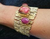 Jasper Bracelet, Gemstone Bracelet, Red Jasper Bracelet, Jasper Jewelry, Red Jasper, Women Bracelet, Statement Bracelet, Dainty Bracelet