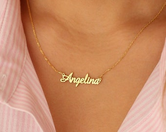 Name Necklace - Gold Name Necklace - Tiny Name Necklace - Name Necklace Gold - Necklace - Tiny Gold Necklace - Mother Gift - Jewelry