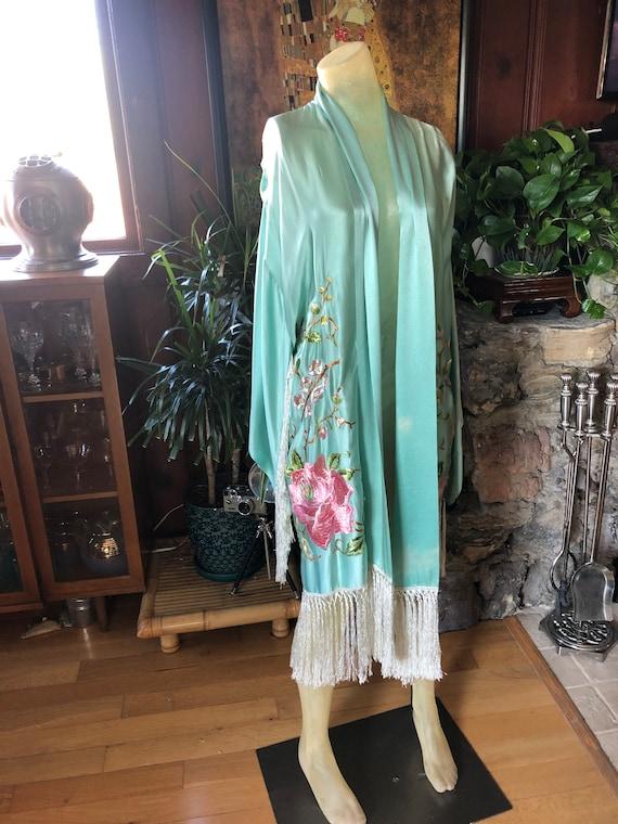 Gorgeous 1920's Silk Embroidered Kimono