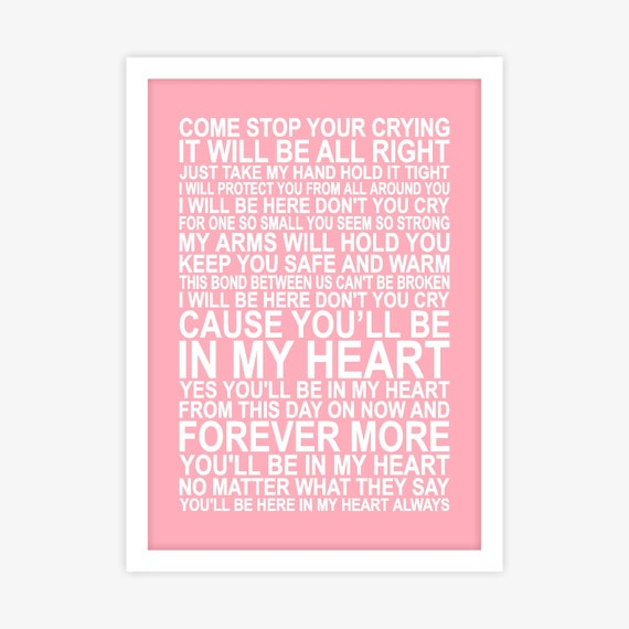 Phil Collins Youll Be In My Heart Tarzan And Jane Song Etsy