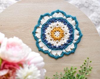 Joined by Heart - A crochet mandala pattern
