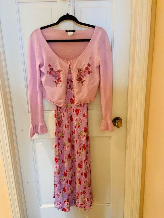 Vintage Betsy Johnson Dress and Sweater Set
