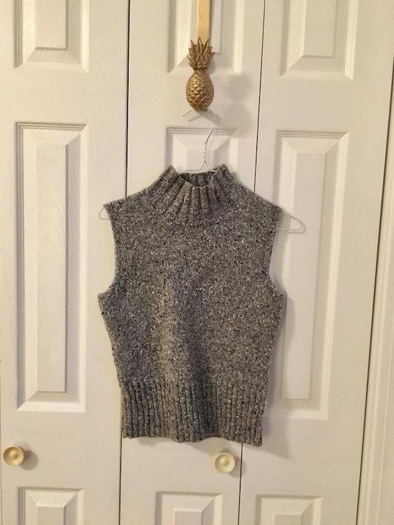 fabbc155b279a Vintage Ann Klein Sleeveless Turtle Neck Sweater