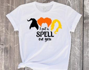 7c3c78fc I put a spell on you shirt, Hocus pocus shirt, Hocus pocus shirt women, Halloween  shirt, Hocus pocus tee, Hocus pocus tshirt.