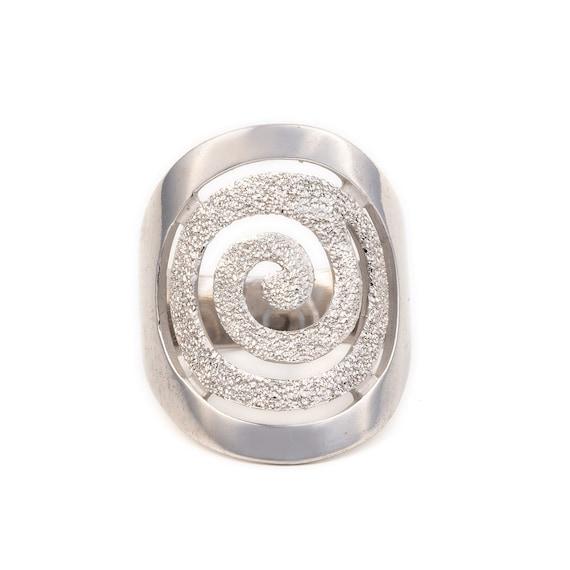 Silver Spiral Ring Minimal Ring Dainty Ring Sterling Silver Ring Irregular Ring Ancient Greek Jewelry Circle Ring
