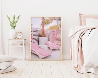 Beach Print, Tropical Print, Spain, Pink Print, Ibiza, Pink Wall Print, Pink Lifeguard Print, Tropical Print, Travel Print, Barbie