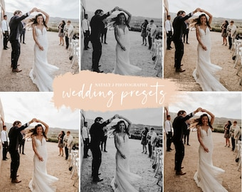 Wedding Presets Pack - Warm Preset, Boho Preset, Moody Preset, Rustic Preset, Black & White preset