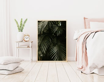 Palm Tree Print, Beach Print, Tropical Print, Botanical Print, Tropical Palm Wall Art, Beach Photography, Palm Tree Leaves