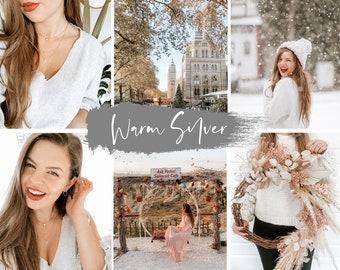 WARM SILVER PRESET | Lightroom preset, Warm preset, Lightroom filters, Instagram presets, Instagram filter, Minimalist preset