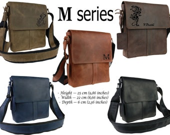 Personalized Leather Men bag 1791c8060d8a5