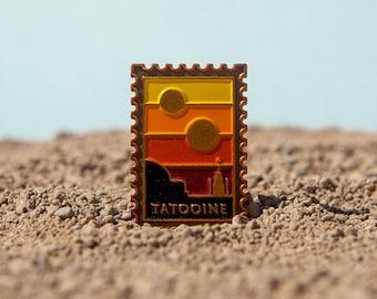 Visit the Galaxy: Tatooine Postage Stamp Soft Enamel Pin