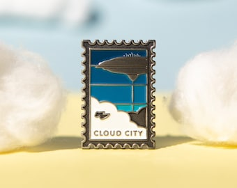 Visit the Galaxy: Cloud City Postage Stamp Soft Enamel Pin
