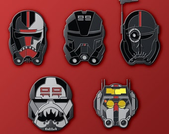 "Clone Force 99 ""Bad Batch"" Soft Enamel Pin Pack"