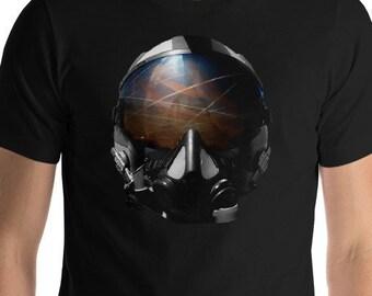 Men's Chemtrails (Helmet) T-Shirt, Geoengineering T-Shirt, Cotton T-Shirt