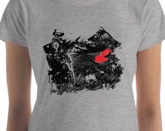 Women's Poppy Fields (Anti War) short sleeve t-shirt, Anti War Graphic T Shirt