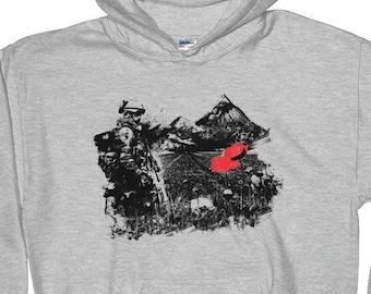 Poppy Field Hoodie (Anti War Graphic Hoodie) Cotton Unisex Hoodie