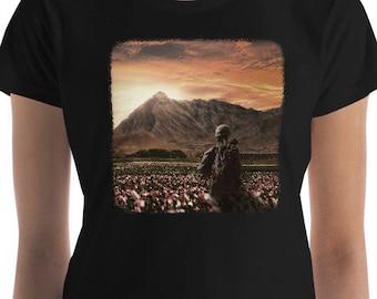 Women's Poppy Fields (Anti War - colour version) Women's short sleeve t-shirt, Anti War T Shirt