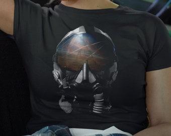 Women's Chemtrails Pilot Helmet (Geoengineering) short sleeve t-shirt, Graphic T Shirt