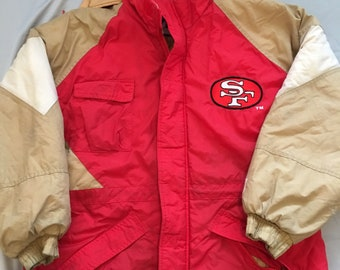 Vintage San Francisco 49ers jacket logo 7 size mens medium nfl rare 1355a2af69d
