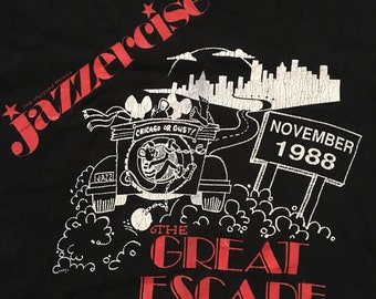 0487e2fbd520df Vintage jazzercise the great escape 1988 size mens XL rare