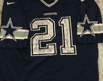 a519fa35081 Vintage dallas cowboys deion sanders nike nfl football jersey sizs mens  large rare