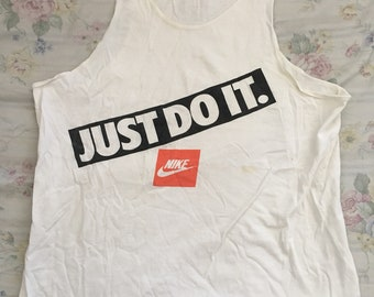 25a4cba17b8bef Vintage nike tank top 90s size mens medium