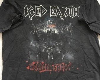 Vintage iced earth shirt size mens XL rare 77b8247b29