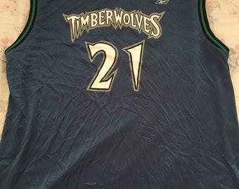 c4e2005962e Vintage Minnesota Timberwolves kevin garnett nba basketball jersey size  mens XL rare