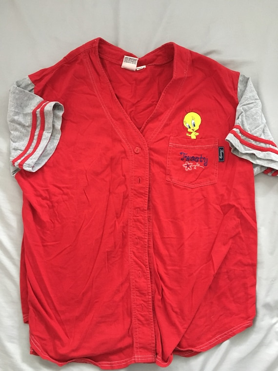 Vintage looney tunes tweety bird jersey size women s XL  821276a8b