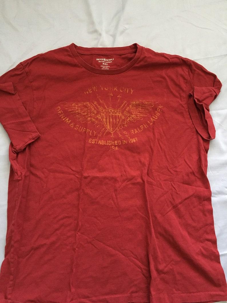 71514c75 Polo Ralph Lauren logo shirt denim supply size mens xxl rare | Etsy