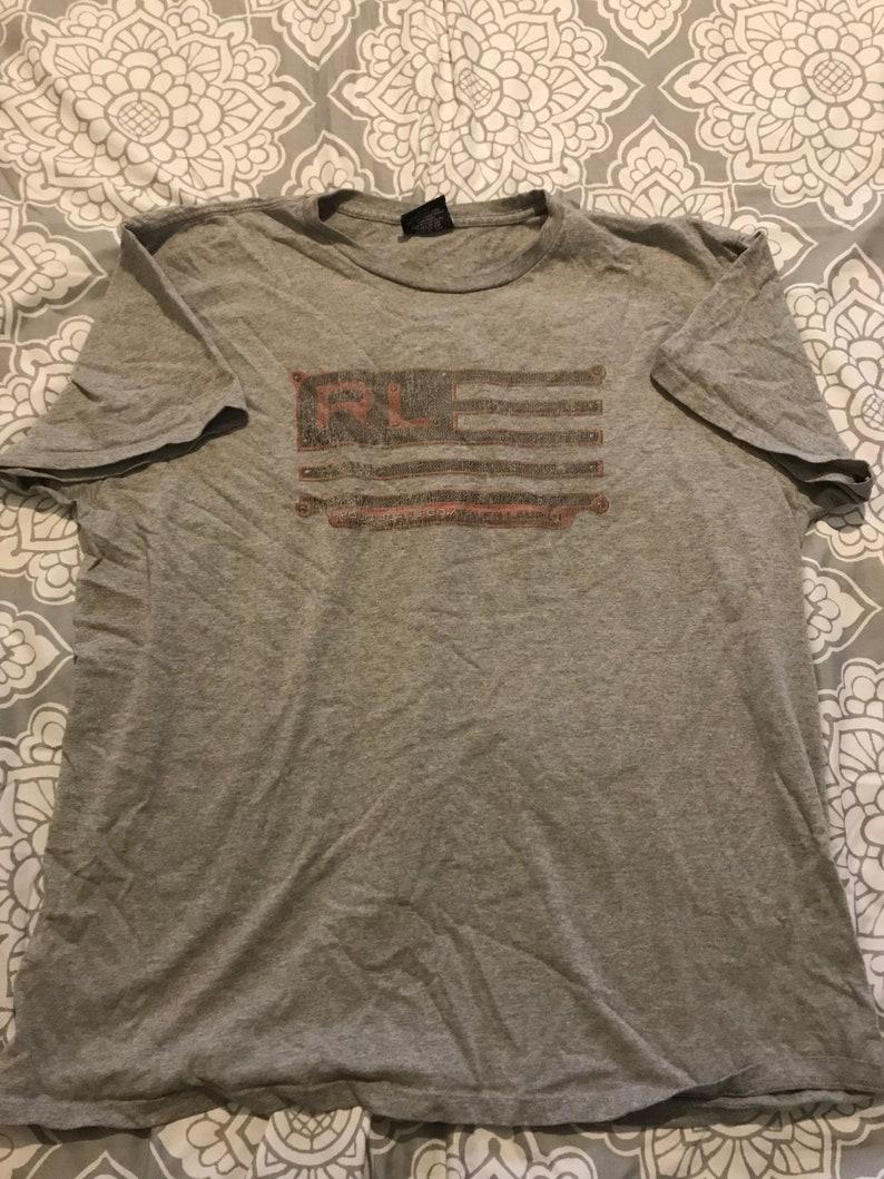 Polo Size Vintage American Mens Shirt Usa Ralph Xl Lauren Flag LSjMqzGVpU
