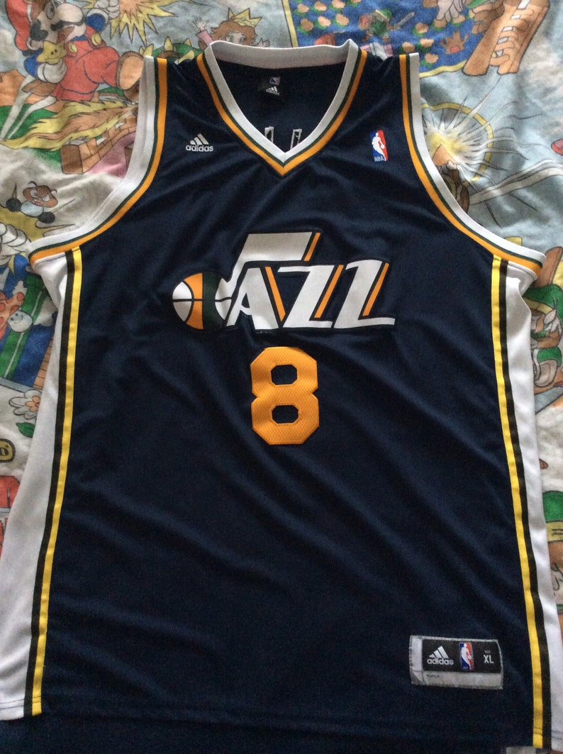 official photos 683b4 cbc0f Vintage Deron Williams Utah Jazz Adidas Jersey sz XL
