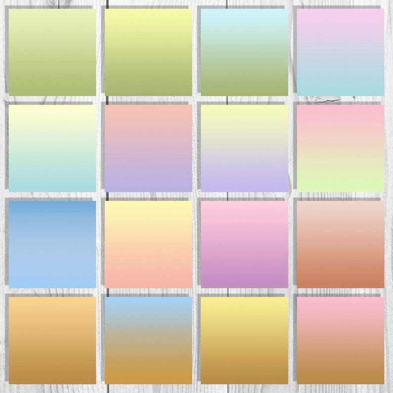 16 Pastel ombre digital paper pack Ombre background Gradient digital Pastel textures  Ombre effect Pastel color paper