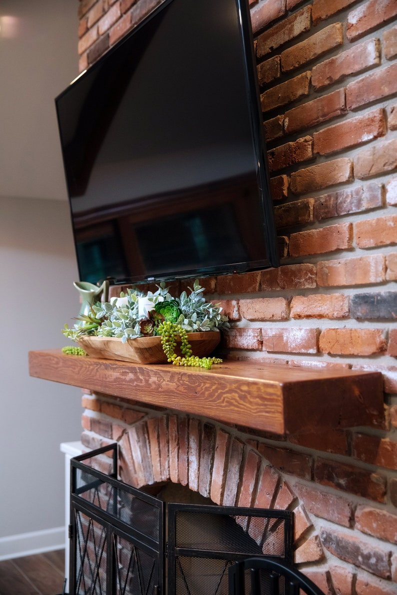 Superb Reclaimed Hollow Floating Fireplace Mantel Mantle Shelf Home Decor Rustic Farmhouse Style Cottage Modern Antique Interior Design Ideas Tzicisoteloinfo