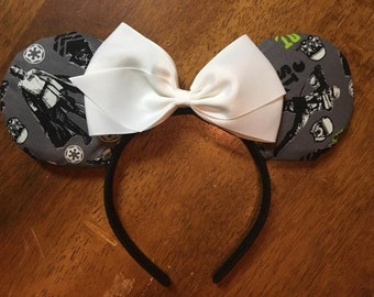 Custom Mickey Ears - Star Wars with Bow
