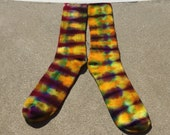 Psychedelic Ice Dye Bamboo Socks Heady Tie Dyed Sustainable Fashion by Southern Iced Tees