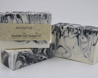 Handmade soap. All natural soap. EUCALYPTUS ~ Large 5 oz bar. Handmade soap. Artisan soap.