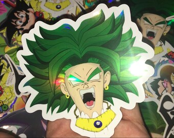 1a8b472d074 Broly custom holographic sticker