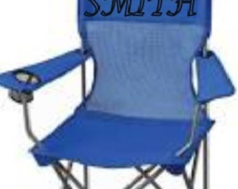 Simple Camping Chair With Name