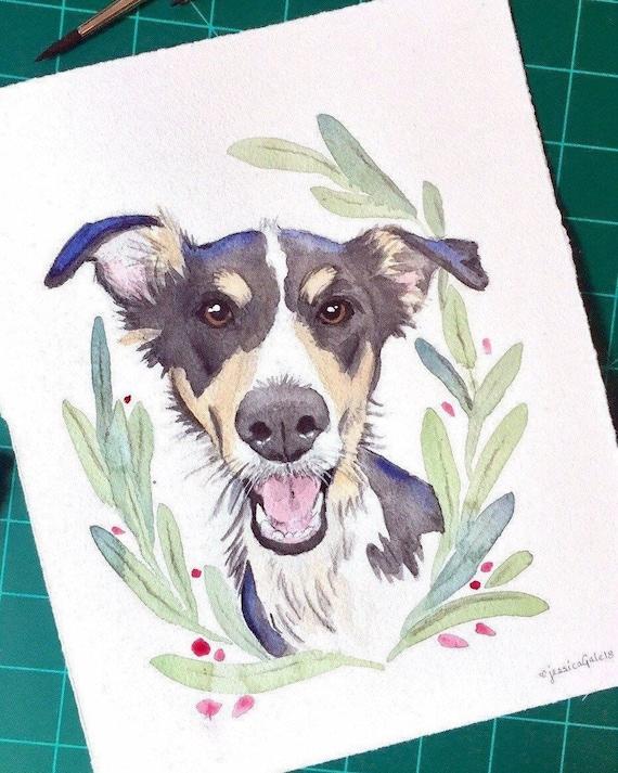 Russian Blue CatPet portraitcat portraitOriginal Watercolour painting Xmas Gift for herPet loss Pet memorabilia Memorabilia