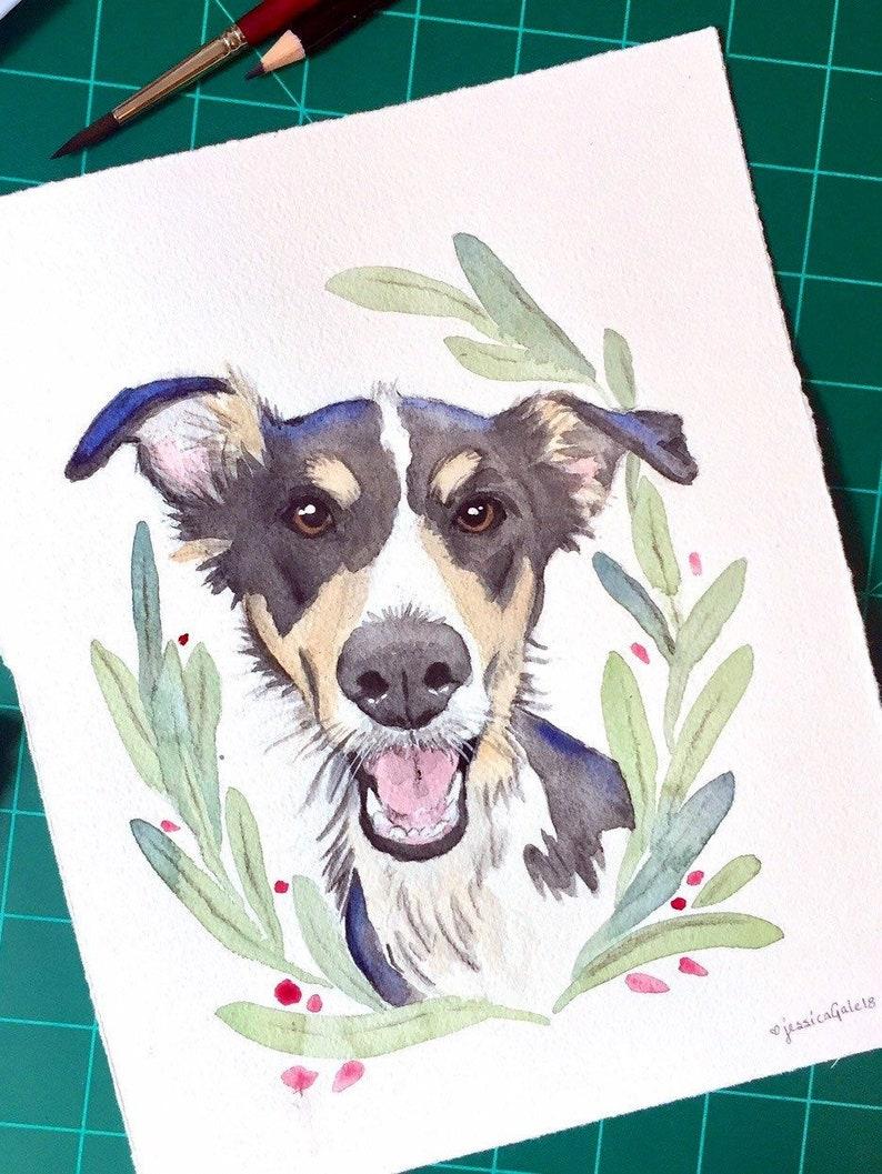 765260c671b9 Pet Portrait Custom Dog Portrait Pet Painting Watercolor Pet | Etsy