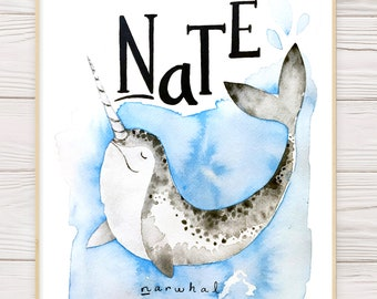 Children's Illustration Featuring Name (Educational)