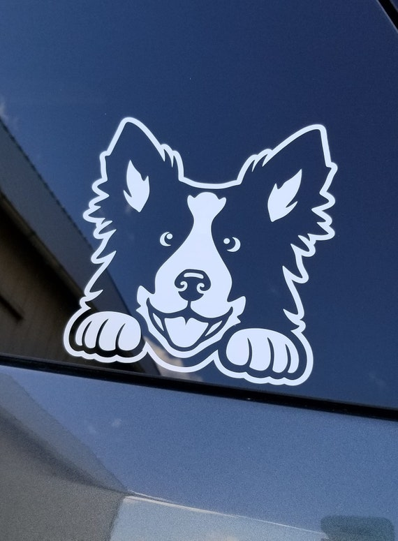 1*Cute Border Collie Dog Pet Sticker Vinyl Car Decal Auto Window Stickers Black
