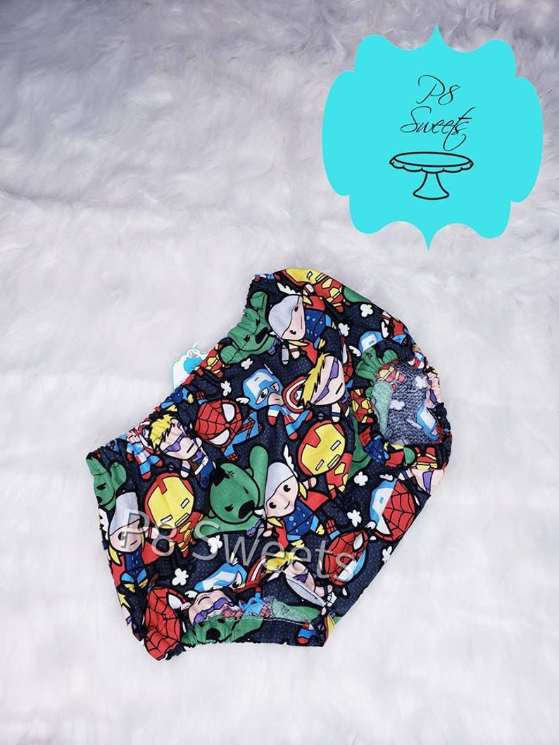 Avengers Kawaii diaper cover only smash cake outfit toddler diaper cover