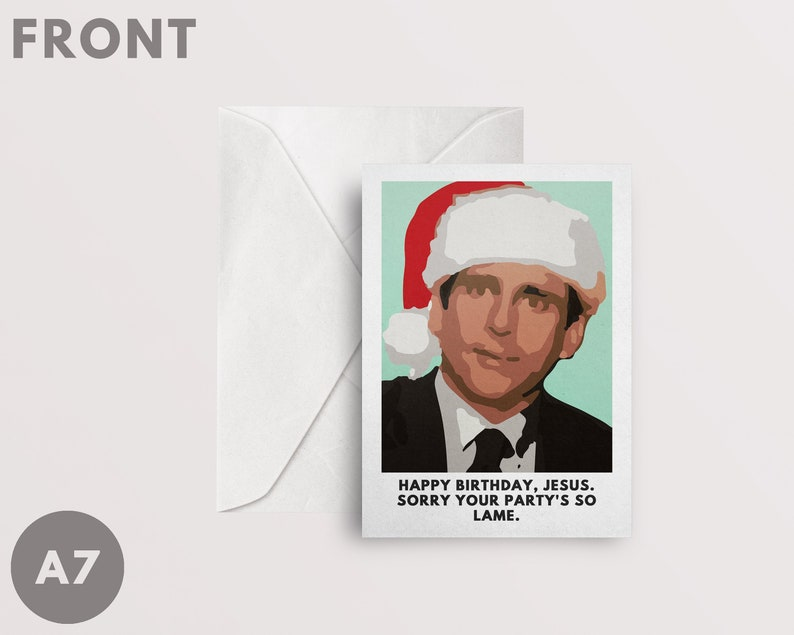 The Office Christmas Card A7 Happy Birthday Jesus Sorry