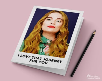 """Alexis Card / """"Love That Journey for You"""" / Instant PDF Digital Download for Easy Printing"""